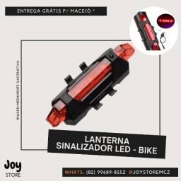 Lanterna Sinalizador Traseiro Recarregável Bike