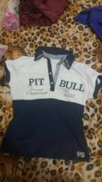 Blusa Baby look Pit bull