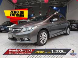 Honda Civic LXS 1.8 Manual - 2014 - Sem Entrada - Aceito Carro ou Moto como Entrada - 2014