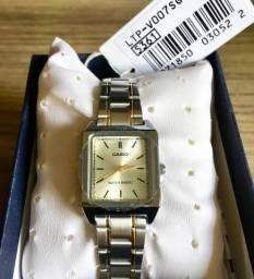 4ee4f54e5a6 Relógio Feminino Casio Novo Original em aço (aceito cartão)