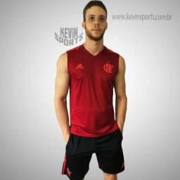 Regata Original de Treino Vermelha Flamengo Adidas 2018 76bd242b175af