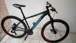 Bike Venzo aro 29 tamanho 17, alumínio 6061 grupo shimano freio disco com NF