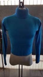 Título do anúncio: Blusa de Lã Azul Claro