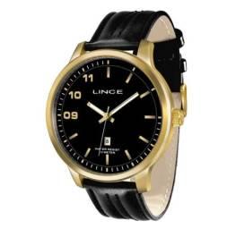 Relógio Lince Analógico Masculino - Preto e Dourado