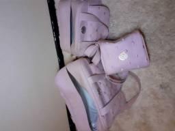 bolsa de maternidade rosa