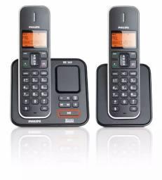 Telefone sem fio Philips com secretária eletrônica (base e+1 ramal)