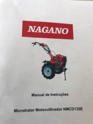 1) microtrator nagano. 2) carretinha. 3) arado. 4) enxada. 5) roçadeira,.