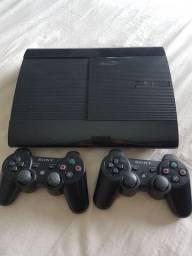 PS3 + 2 controles + jogos originais