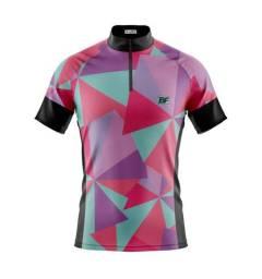 Camisas e bermuda de ciclismo feminina