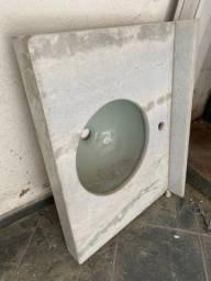 200.00 ( lavatório novo ) mármore branco