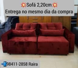 Título do anúncio: Sofá Retrátil com Carregador USB NOVO DE FÁBRICA COM FRETE GRÁTIS