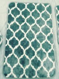 Jogo de tapete para banheiro