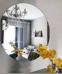 Título do anúncio: Espelho redondo Lapidado