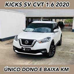 Título do anúncio: Nissan Kicks Sv 1.6 Cvt Flex Automática - Único Dono - 2020