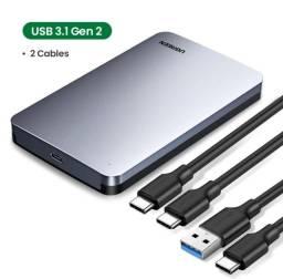 Case 3.1 Ugreen 2.5 6gbps sata3 usb c externo caixa de alumínio [Lacrado]