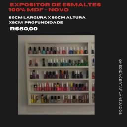 Título do anúncio: Expositor de esmaltes / organizador / nichos Novo 100% MDF