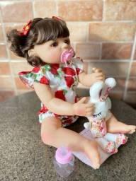 Título do anúncio: Boneca Bebê Reborn Toda em Silicone realista 55cm Nova (aceito cartão )