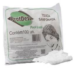 Touca sanfonada Protdesc - Branca