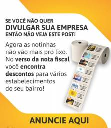 Publicidade em Cupom Fiscal