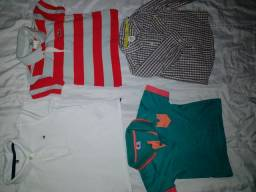 Lote camisa infantil 1 ah 2 anos carts, Tommy Lacoste ect