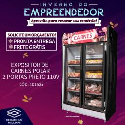Título do anúncio: Expositor refrigerado para carnes 2 portas Polar Novo Frete Grátis