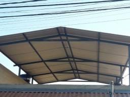 estrutura metalica, Telhado, cobertura  - Terraço , melhor preço zinco galvanizado Fazemos