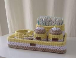 Kit higiene de fio de malha por encomenda