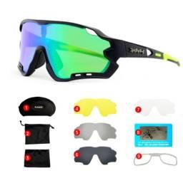Título do anúncio: Óculos Ciclismo Mtb Polarizada/transparente 5 Lentes + Adaptador de Grau