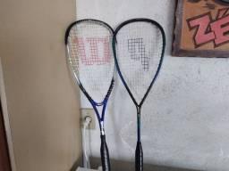 Par de raquetes de squash em bom estado