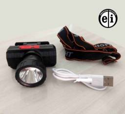 Lanterna de Cabeça Recarregável Usb LT-8512 (Entrega Grátis)