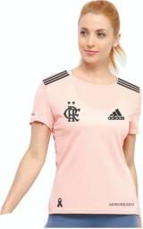 Camisa Rosa do Flamengo + Relógio Feminino