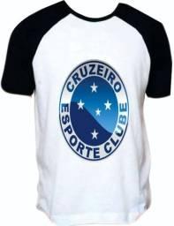 Blusa do cruzeiro esporte clube - raglan ou toda branca