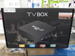 Conversor smart tv box mxq PRÓ 128gb 8ram Android 11.1
