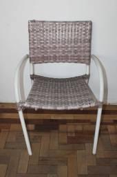Título do anúncio: Cadeira c/ Braços em Vime Marrom 83 cm x 57 cm x 47 cm
