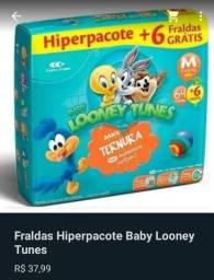 Fralda Looney tunes R$ 37,99