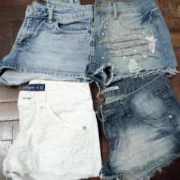 8915155ecd Lote de shorts 4 shorts 36 e 38