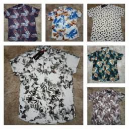 Camisa floral vários modelos