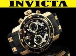 6bdeb097932 Relógio Invicta 6981 100% Original Ouro 18K em 12X 01 Ano Garantia diversos  modelos