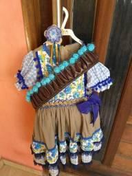 Vestido Infantil de São João