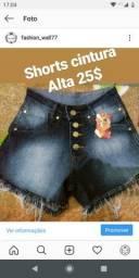 Shorts cintura Alta novo