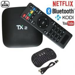 Tanix Tx2 16gb 2gb Ram Tv box Android 7.1 Bluetooth (Android TV Original) (9 9818-1901)