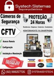 Instalação de câmeras de segurança CFTV, Cercas Elétricas, Alarmes, Motores para Portão