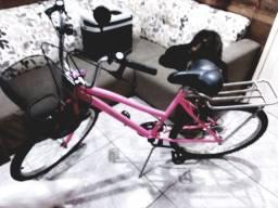 Bike feminina nova, pouquíssimo uso.