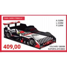 Cama carro Fórmula 1 (colchão não incluso)