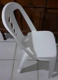 Cadeira Tramontina Cupe Branca S/ Braços, Mesmo Conforto de Braços, 4 Unidade Carga 182 Kg