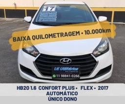 HB20 1.6 confort plus automático único dono com apenas 10.000km