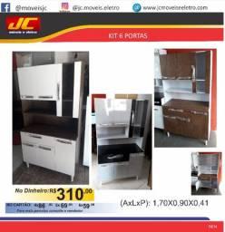Armario de cozinha Araplac 6 portas b