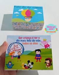 Caixa para doces dia das crianças