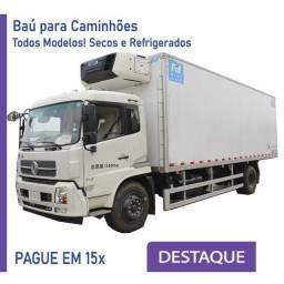 Título do anúncio: Baú Refrigerado e Baú Seco para Caminhão novo e seminovo Modelo: U 276
