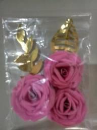 Kit de flores para topo de bolo